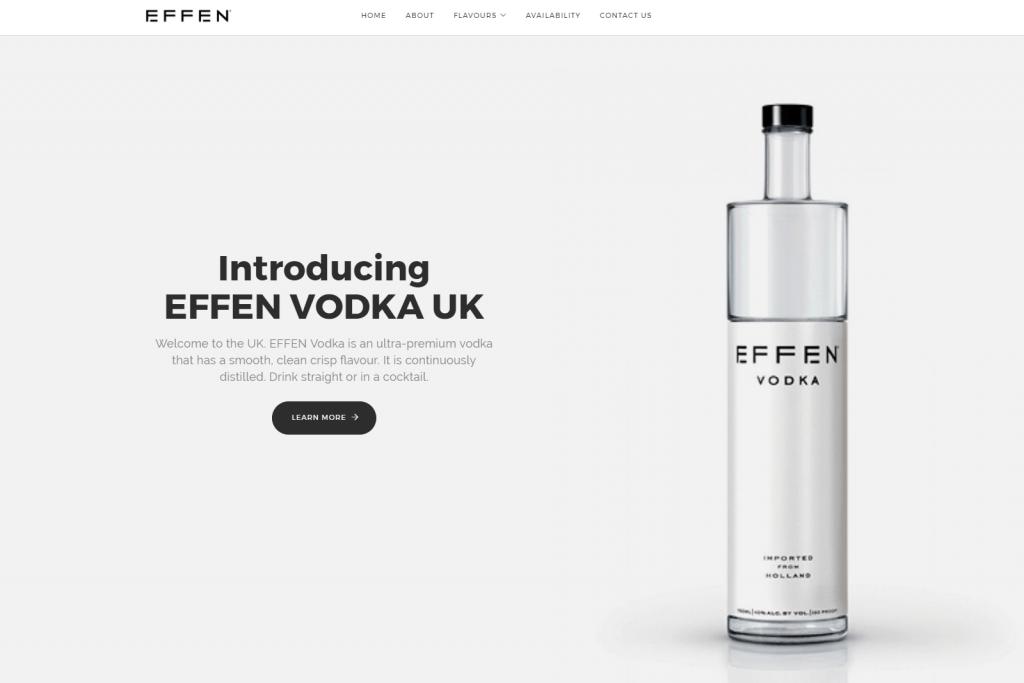 EFFEN Vodka Website Portfolio