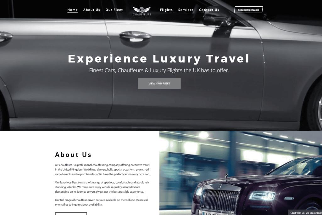 AP Chauffeurs Website Portfolio