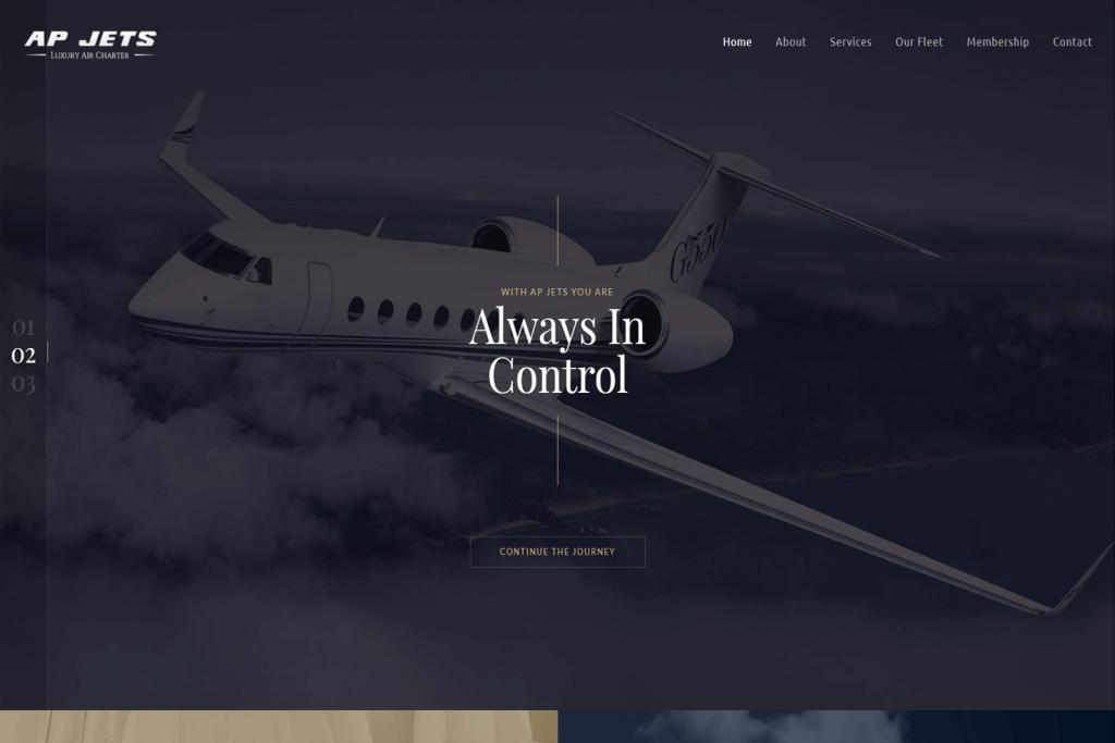 AP Jets Website Portfolio