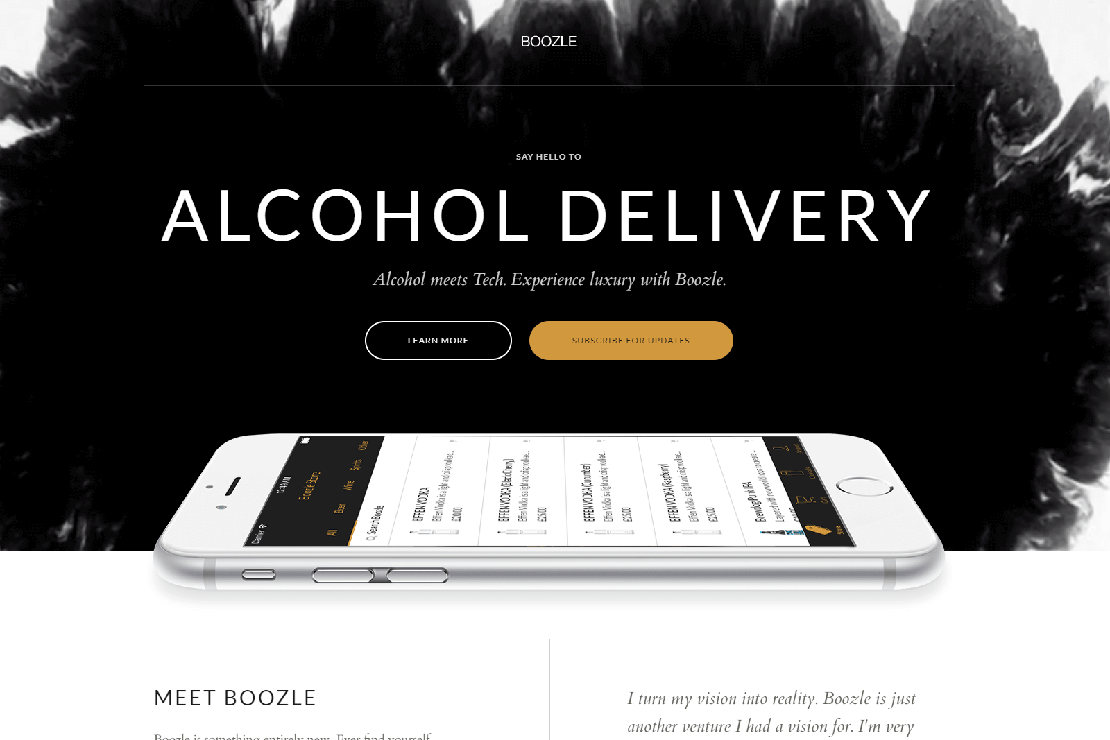 Boozle App Website Portfolio