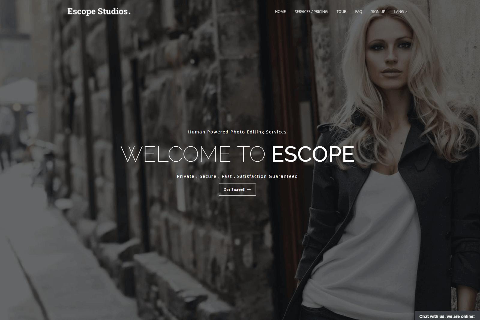 Escope Studios Website Portfolio