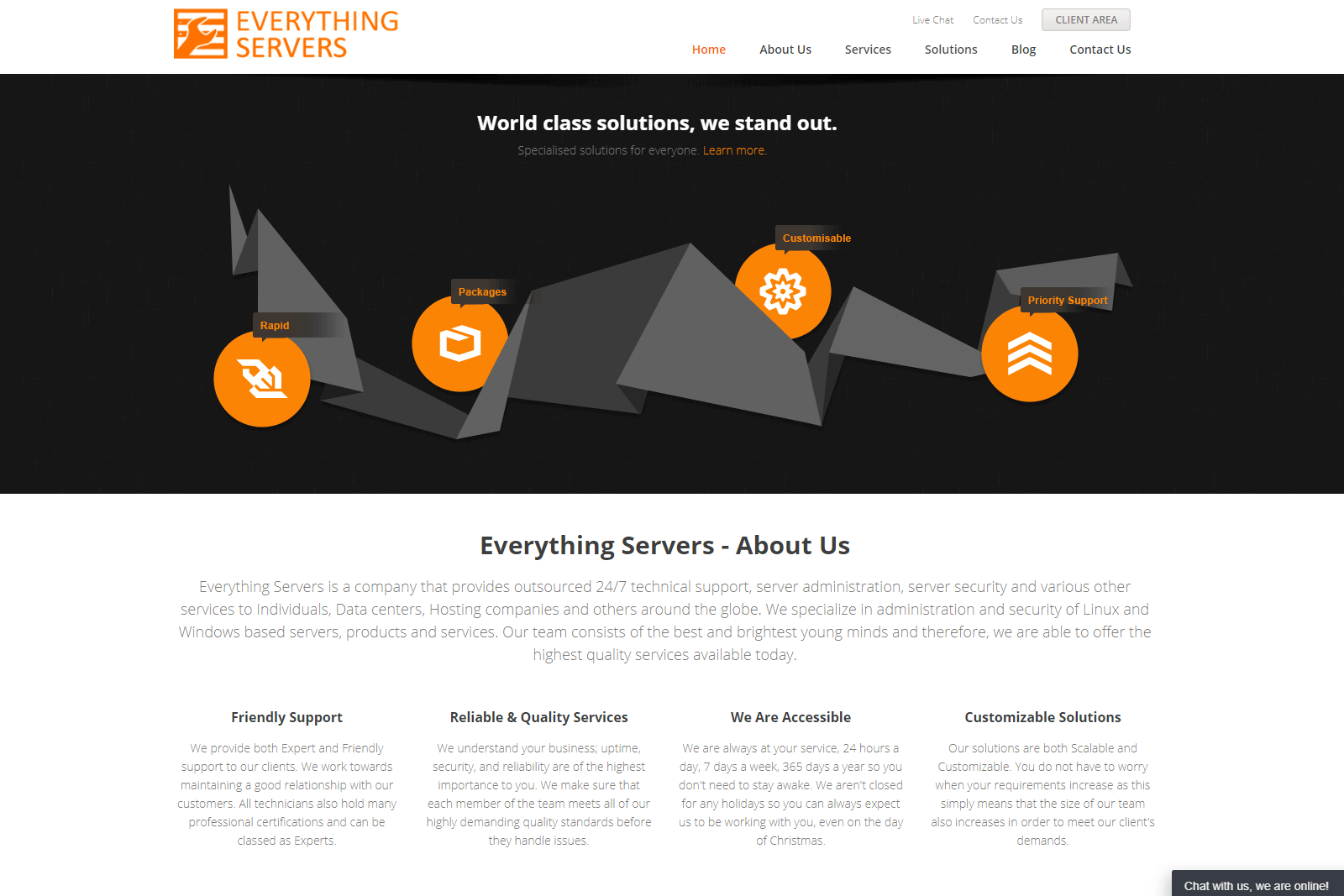 Everything Servers Website Portfolio