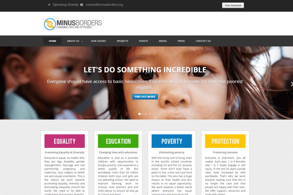 Minus Borders Website Portfolio