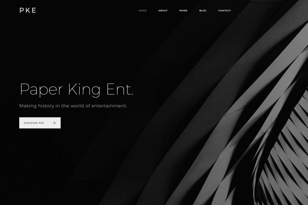 Paper King Entertainment Website Portfolio