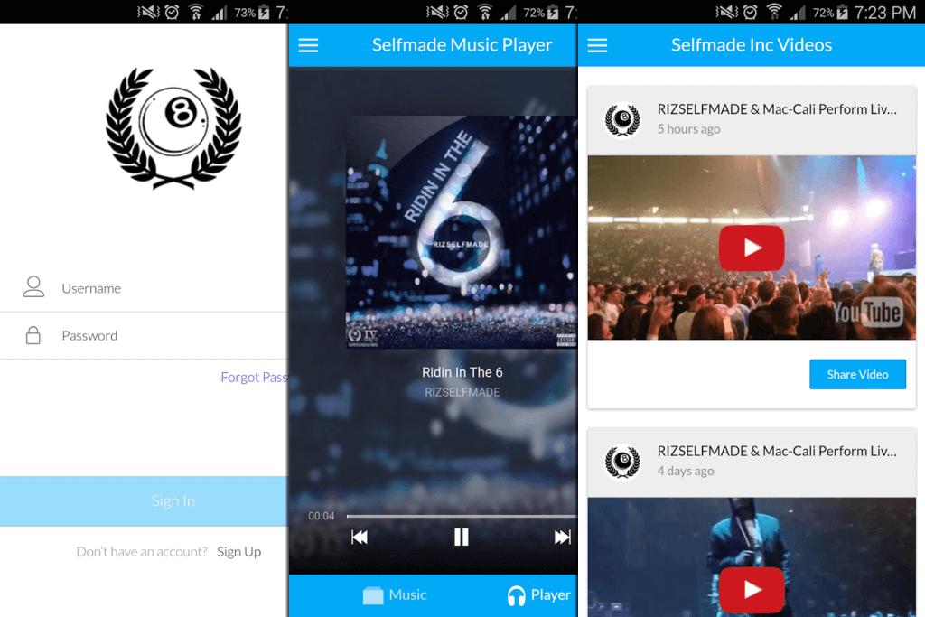 Selfmade Inc App Portfolio